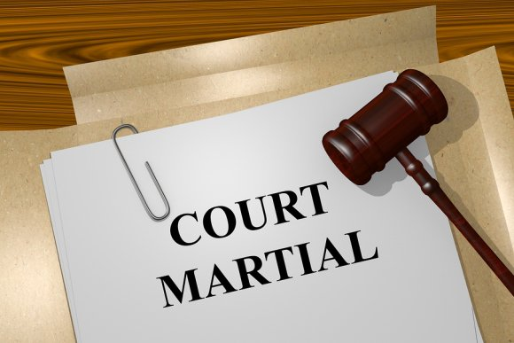 "Illustration of ""Court Martial"""
