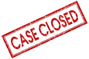 "Illustration of text ""Case Closed"""