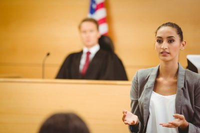 Women appealing in the court room